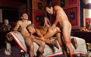 Jennifer Stone & Andrea Moranty have a fervent groupsex with horny guys