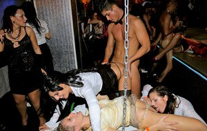 Stupendous european sluts going down with male strippers at the sex party