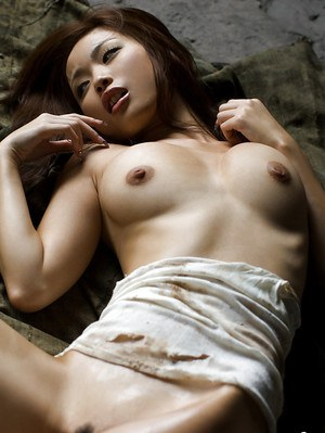 Hot asian bombshell Risa Kasumi showcasing her gorgeous curves