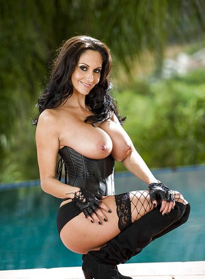 Hot MILF Ava Addams revealing her big round tits and shaved slit