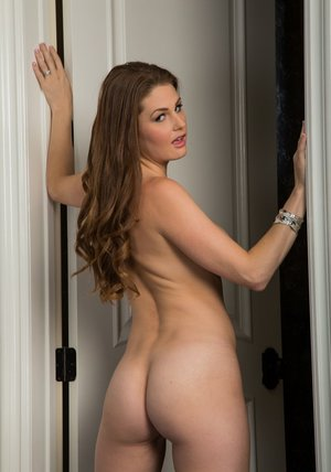 Cuddly housewife Allison Moore showcasing her voluptuous curves