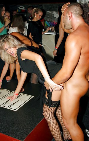Salacious damsels getting drunk and going down at the wild sex party