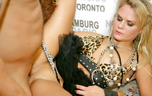 Salacious chicks have some pussy licking and cock fucking fun at the party