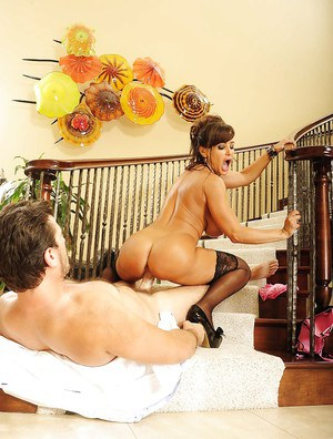 Lisa Ann gets her love holes drilled hardcore by a stiff prick