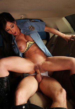 Busty MILF in police uniform Jewels Jade gets shafted hardcore