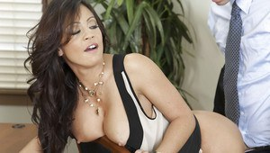 Ravishing asian office lady Mia Lelani enjoys a hardcore anal plugging
