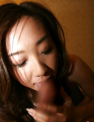 Slutty asian coed gives a blowjob and gets her bushy cunt cocked up