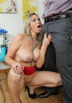 Curvy MILF with shaved cunt Abbey Brooks gets drilled hardcore