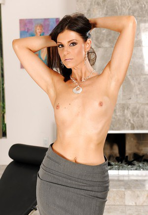 Graceful MILF India Summer gets rid of her office suit and lingerie