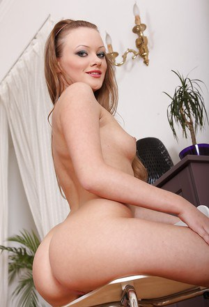 Foxy chick Lili Lamour taking off her bikini and playing with her anal toy