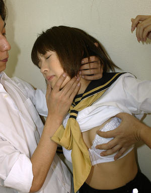 Petite asian schoolgirl gets forced by naughty guys to a rough threesome