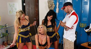 Sultry vixen Nikki Benz sucks and big cock and takes it in her ass