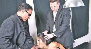 Asian gal Mika Tan toying her cunt while getting her butt plugged hardcore