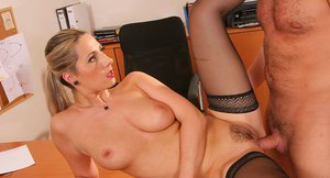 Bosomy teacher in stockings Daria Glover gets nailed by her naughty student