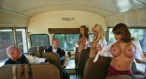 Hot pornstars play dirty schoolgirls going wild in this reality style scene
