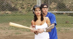 Big busted baseball player Ricki Raxxx gets screwed hardcore by her coach