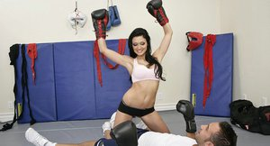 Sporty hottie with big tits Aletta Ocean gets fucked after sparring