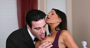 Victoria Valentino gives a sensual blowjob and gets drilled hardcore