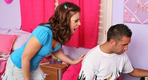 Lustful teen Stephanie Richards gets her cunt fingered and cocked up