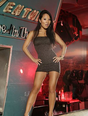Asa Akira gets her tight asian pussy stretched by a big hard dick