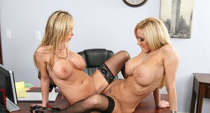 Big busted lesbians Liv Tyler & Nikki Benz licking and scissoring