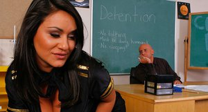 Adorable latina slut Charley Chase gets fucked by her naughty teacher