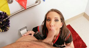 Bootylicious bombshell Kelly Divine sucks and fucks a big cock