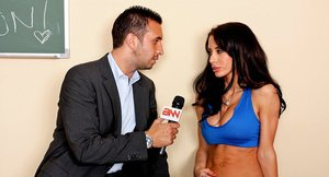 Shapely sporty babe with big round tatas Mya Nichole gets porked rough