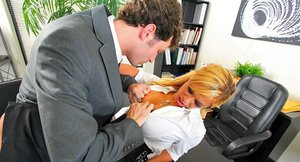 Shyla Stylez gets her big ample ass feverishly pumped by her office mate