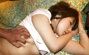 Salacious asian cutie gets her unshaven cunt fingered and boned-up