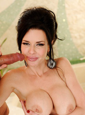 Busty MILF Veronica Avluv gives a blowjob and gets sensually banged
