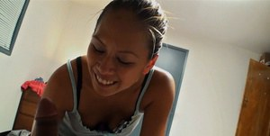Filthy asian coed has some hardcore fun with a hard dick