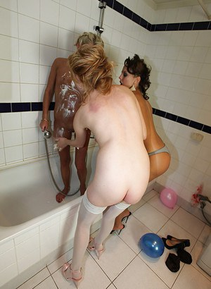 Drunk blonde coed taking shower and toying her hungry pussy