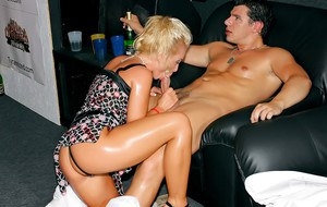 Zoftick MILFs showing off their blowjob skills at the crazy club party
