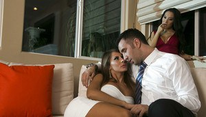 Madison Ivy & Asa Akira have a threesome groupsex with a studly lad