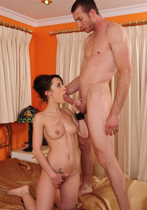 Slim hottie Nikita Bellucci gives a deepthroat and gets screwed tough