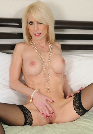 Blonde MILF Jodie Stacks revealing her graceful body with big tits
