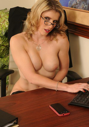 Hot lady in stockings Cory Chase stripping and exposing her twat