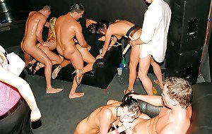 Claudia Adams spends some good time with her friends at the drunk sex party