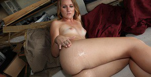 Sweet amateur gets fucked and takes a large cumshot on her fanny