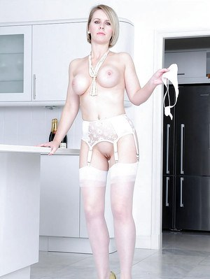 Lady sonia and her redhead friend in lingerie play 5