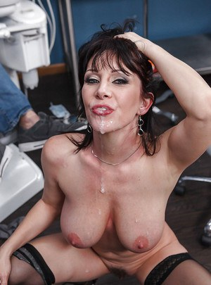 Saucy MILF Ray Veness enjoys a big cock filling her mouth and pussy