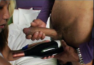 Asian slut Keeani Lei gets fucked and takes a cumshot on her smiley face