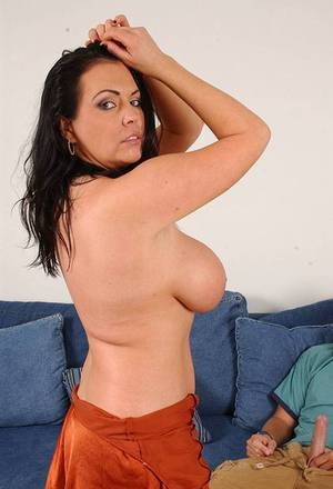 Busty MILF Angelica Sin gives a titjob and gets shagged hardcore
