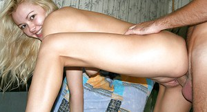 Smiley blonde amateur enjoys passionate fucking for a homemade video