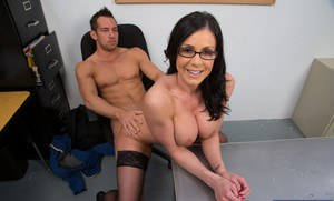 Hot teacher Kendra Lust gives a blowjob with ball licking and gets shagged