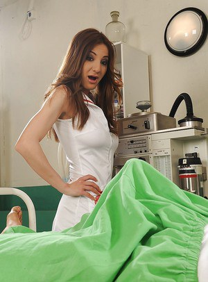 Lusty european nurse has some anal fun with her studly patient