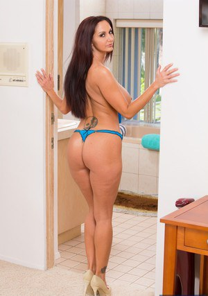 Well-stacked MILF Ava Addams slipping off her dress and panties