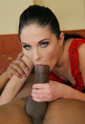Lewd hottie Alma Blue has some interracial ass licking and drilling fun