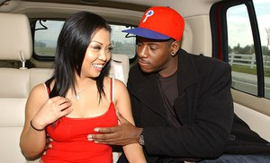 Filthy asian slut Jazmine Leih blows a fat black boner in the car
